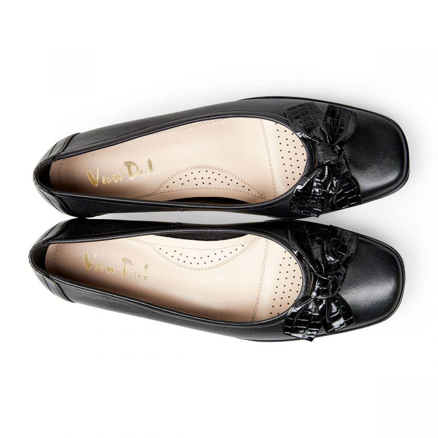 Barbados II - Black Leather / Croc