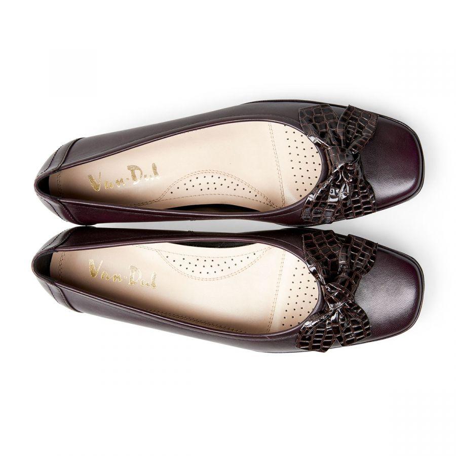 Barbados II - Damson Leather / Croc