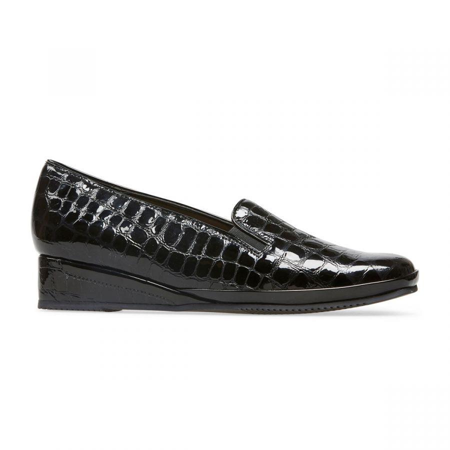 Rochester II - Black Patent Croc