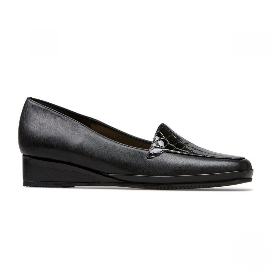 Verona III - Black / Patent Croc