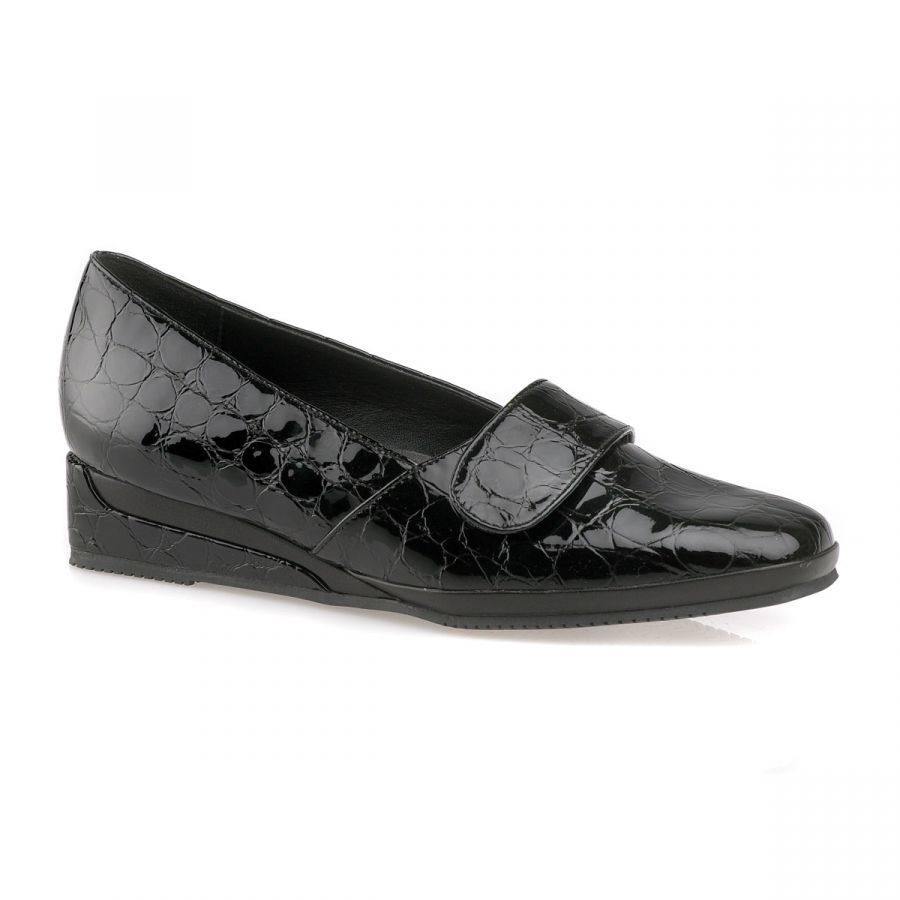 Eyre - Black Patent Croc / Black