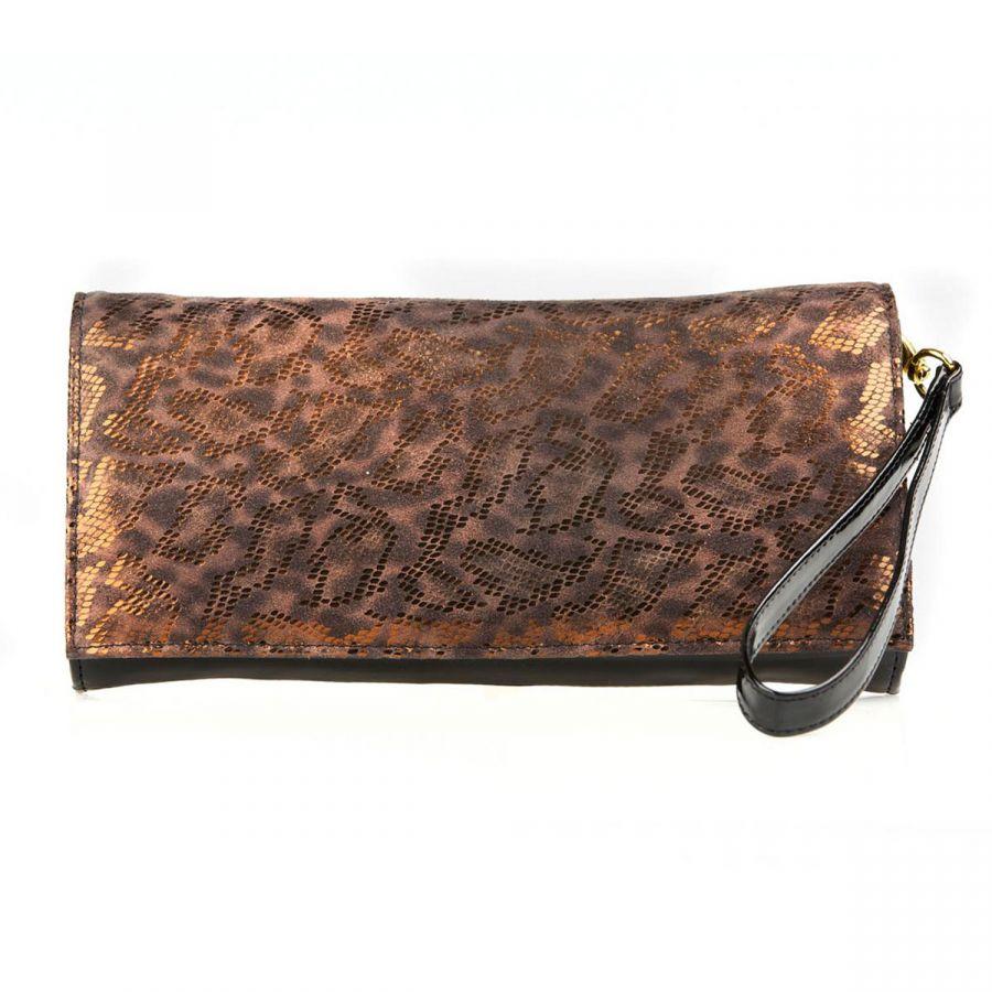 Chilmark - Brown Leopard / Black Patent