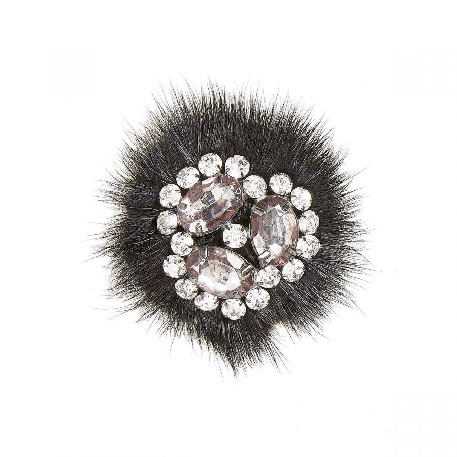 Anya - Black Fur/Beads