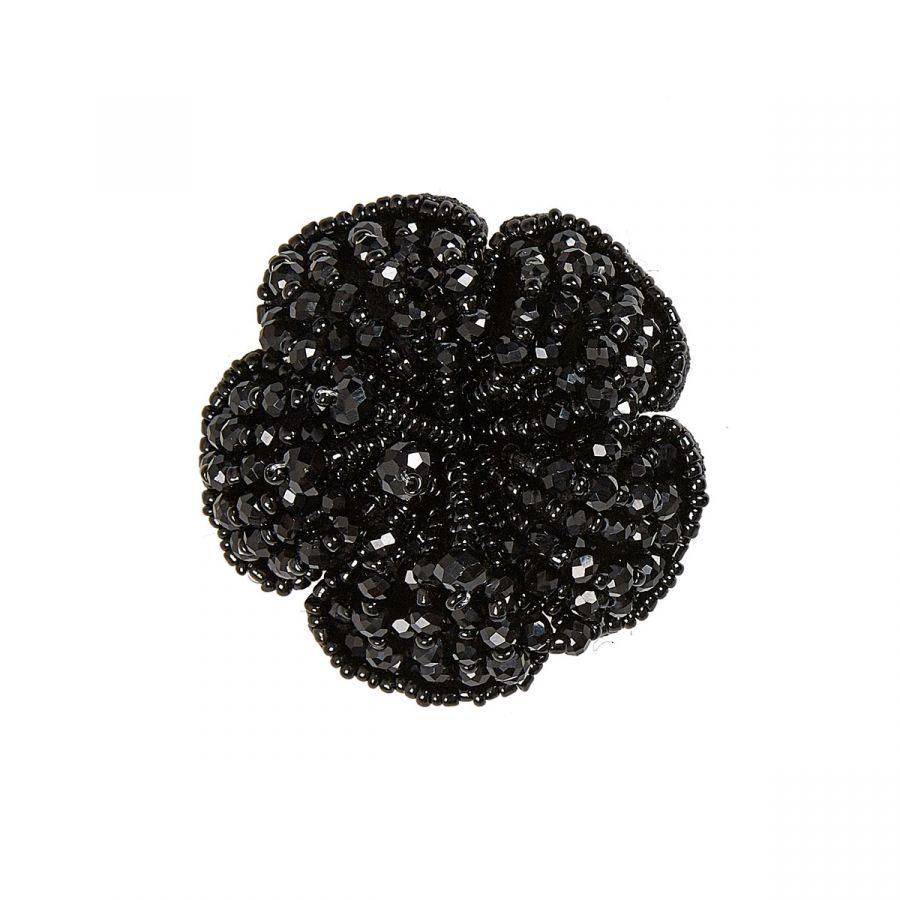 Alani - Flower Shaped Black Beads