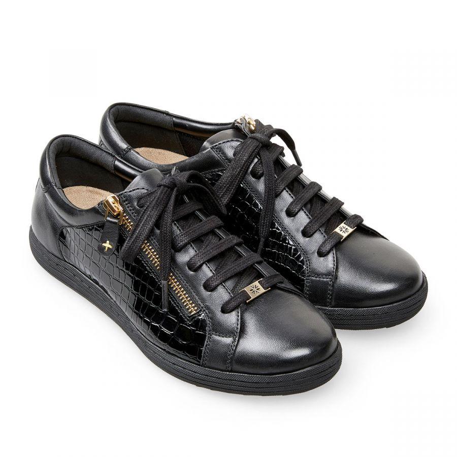 Detroit - Black Leather / Croc