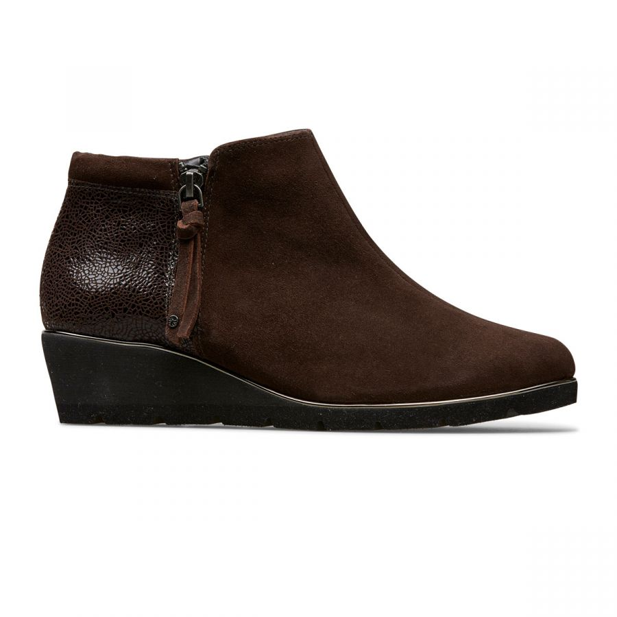 Cass - Coffee Suede / Crackle