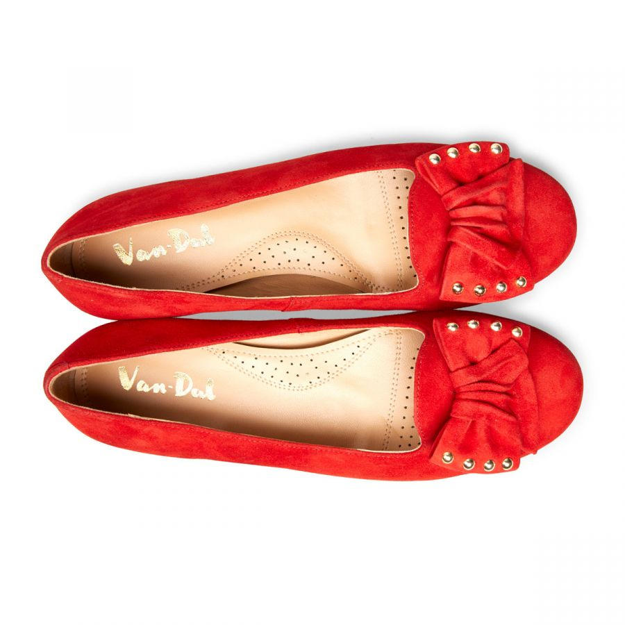 Janet - Holly Red Suede