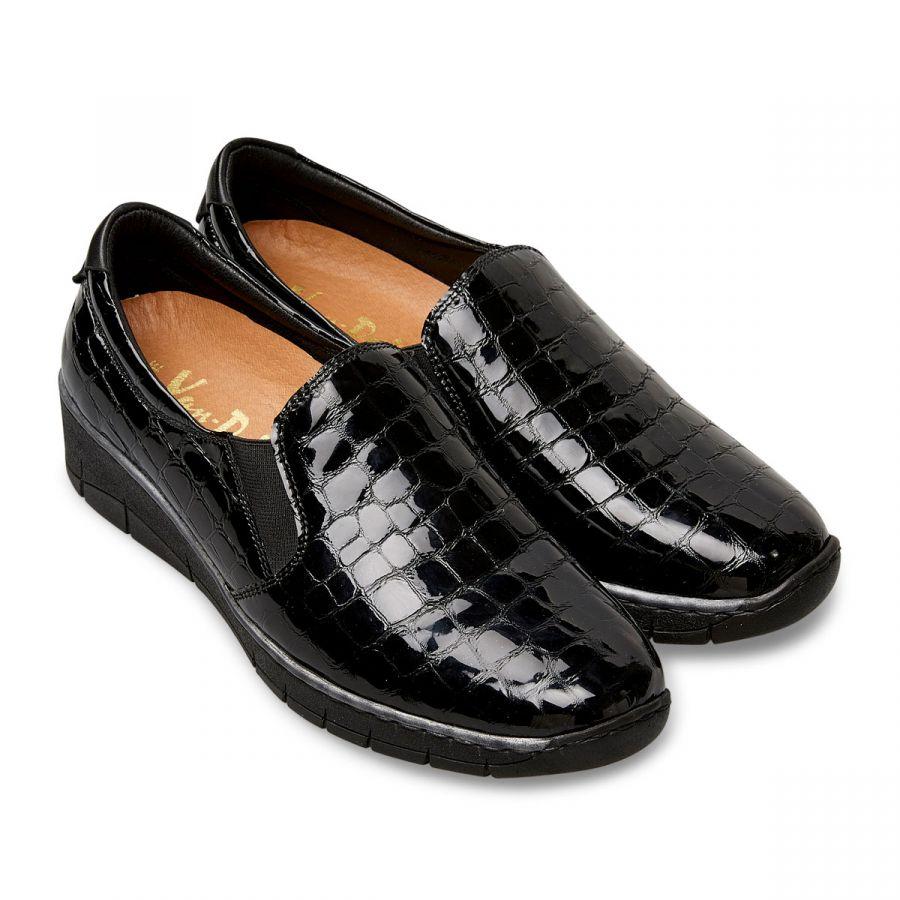 Ripple - Black Patent Croc