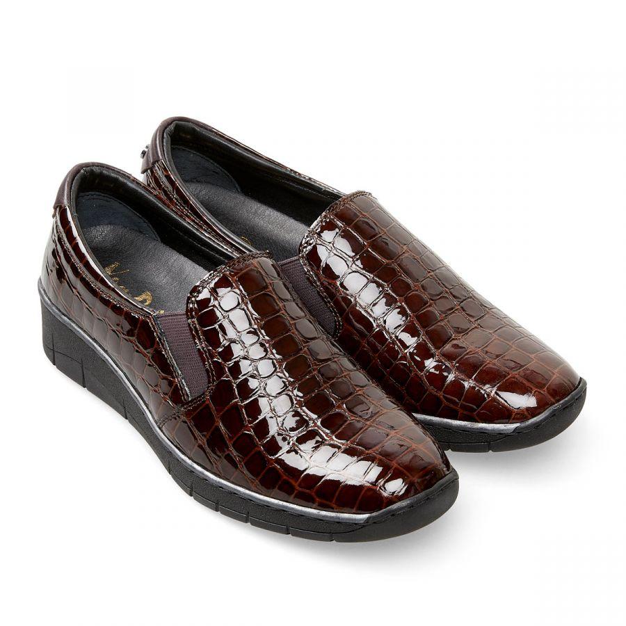 Ripple - Damson Patent Croc