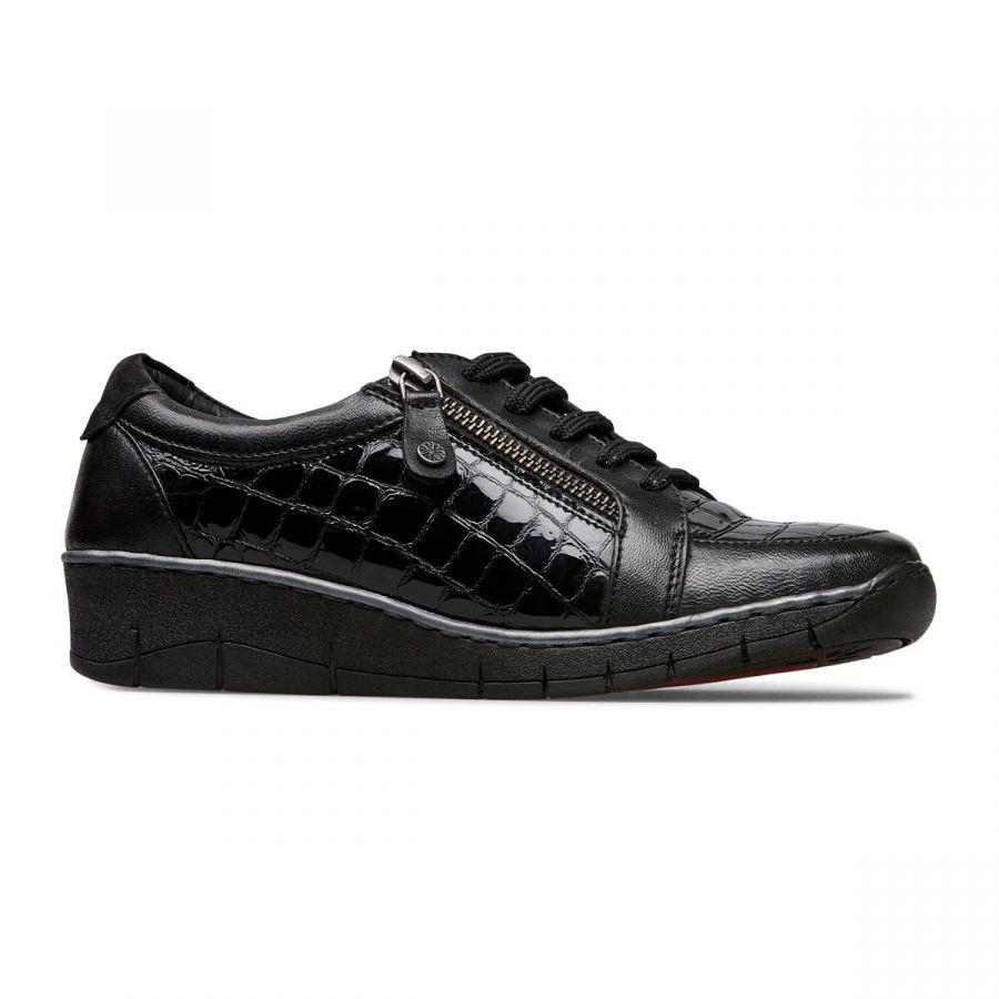 Aubrey - Black Croc