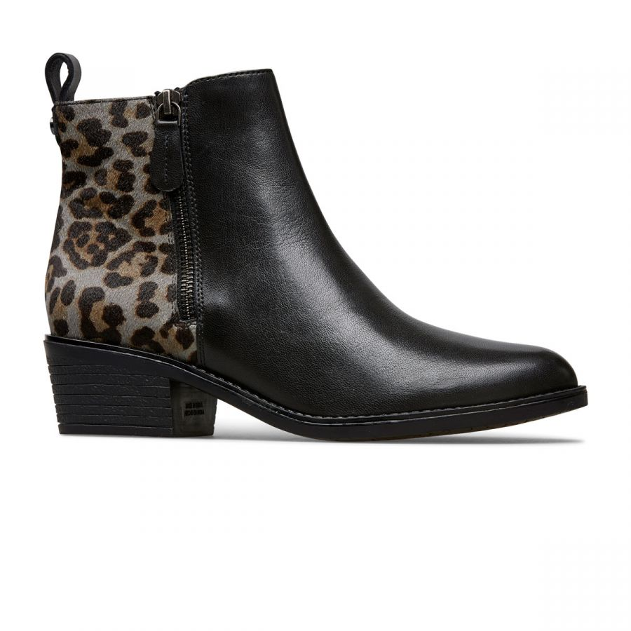 Barlow II - Black / Grey Leopard