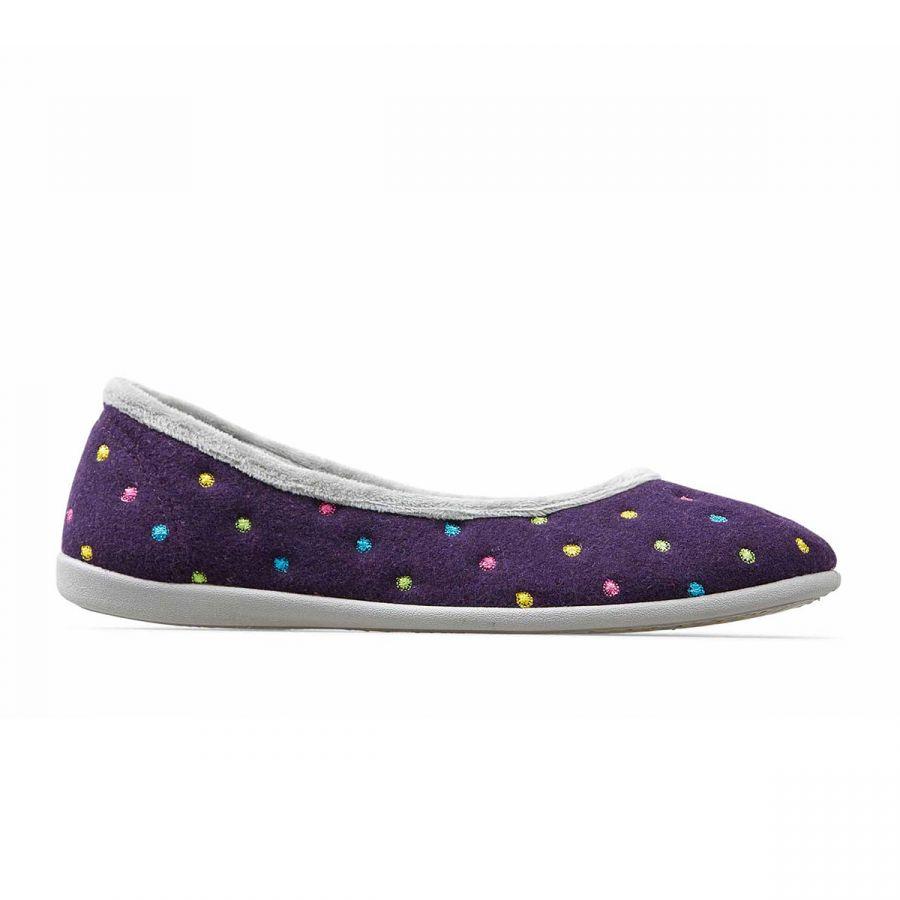 Padders Ballerina Slippers - Purple