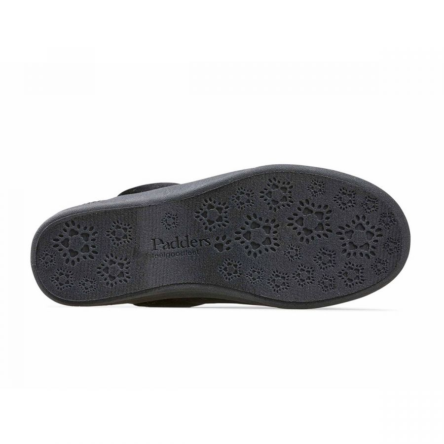 Padders Celine Slippers - Black Tarnish