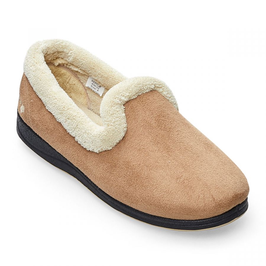 Padders Repose Slippers - Taupe