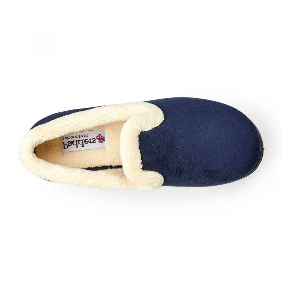 Padders Repose Slippers - Navy