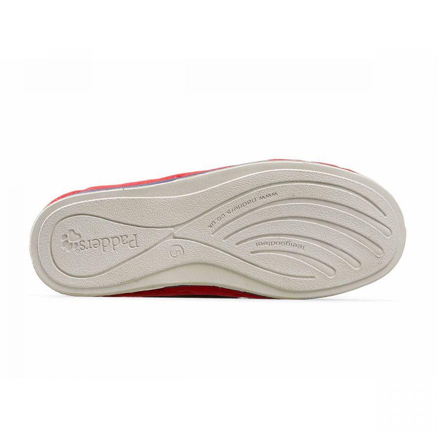 Padders Repose Slippers - Red Polka