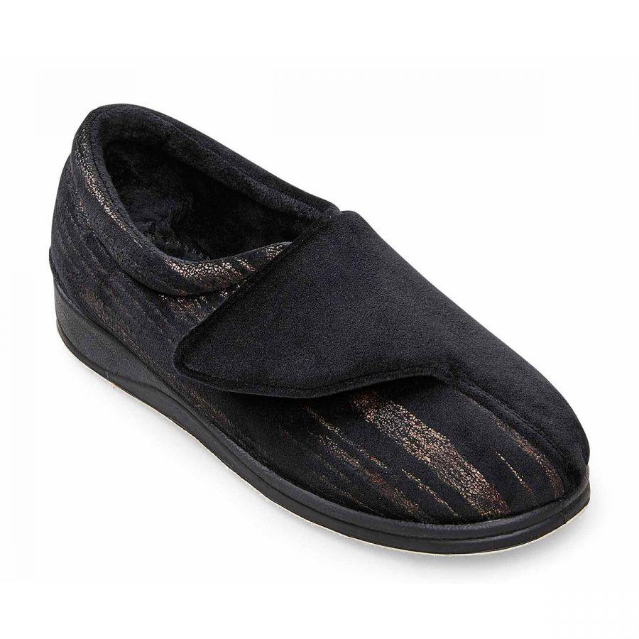 Padders Hug Slippers - Black Feature